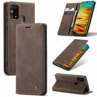 Samsung galaxy M31 Flip Case Caseme Cover Leather Wallet Dompet - Hijau