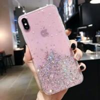 Glitter Case Vivo V5 Lite V9 V11 V11i V15 Pro Y65 Y69 Vivo S1 Y19 U20 - Merah Muda