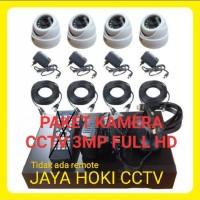 PAKET CCTV 8 CHANNELL 4 KAMERA FULL HD CAMERA 3MP HDD 320GB KOMPLIT