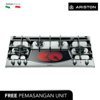 ARISTON Kompor Tanam 90 Cm PH941MSTVGH, 4 Pembakar Gas+Ceramic