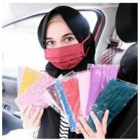 Masker Kain Tali Sambung / Masker Hijab Bahan Katun Oxford Anti Corona