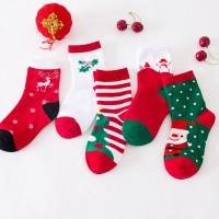 Kaos Kaki Casual Bayi/anak Laki-laki/perempuan Motif Natal Untuk