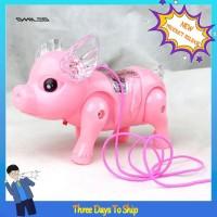 Mainan Babi Berjalan dengan Lampu LED Musik untuk Edukasi Anak TG
