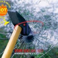 KACA FILM ANTI PELURU / CLEAR SAFETY 4 MICRON stok terbatas