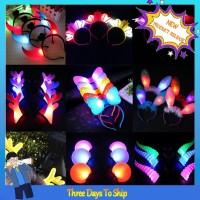 Bando Desain Telinga Kucing Luminous untuk Hadiah Natal Anak TG