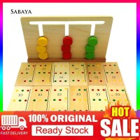 ✤JY✤Creative Wooden 3 Color Array Sorting Matching Game Domino