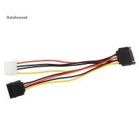 Kabel Power 15Pin SATA Male ke 4Pin IDE Molex Female + 15 Pin SATA