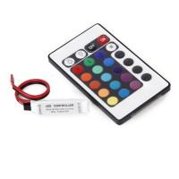 Kloware1 24 Keys Slim IR Remote Controller For 3528 5050 RGB SMD LED
