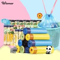 5 Roll Tempat Sampah Plastik Tebal dengan Tali Serut untuk Dapur TG