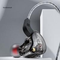 X2 Earphone In-Ear HiFi Subwoofer Dengan Kabel Kepang untuk