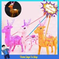 Mainan Rusa Berjalan Elektrik dengan Lampu LED dan Musik untuk Anak TG