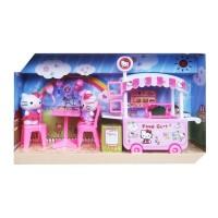 New Mainan Anak Perempuan Hello Kitty Food Cart - Gerobak Makanan DN8