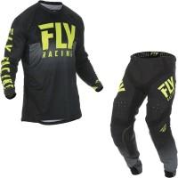 Fly Racing 2019 Lite Hydrogen Motocross Jersey & Pants Black Hi V
