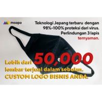 3 LAPIS Masker Kain Antibakteri Antivirus / Antibacterial Mask - M - Light Grey