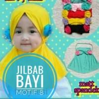 Jilbab Bayi bunga samping