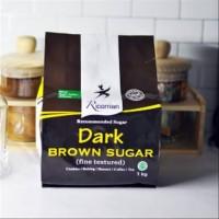 Gula Dark Brown Sugar RICOMAN 1Kg (Bubuk Caster Kastor Halus Powder)