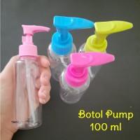 100ml Botol Pump Travel Kit Bottle Pompa Sabun Lotion Kosmetik Isi Ula