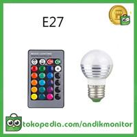 TaffLED Lampu Bohlam LED RGB 3W 16 Colors E27 + Remote Control - 2835