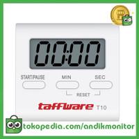 Taffware Timer Masak Dapur Countdown Digital Alarm Clock - T10 - Whit