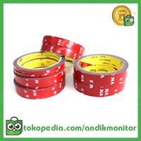 JETTING Lakban Selotip Double Tape 3M 3m x 6mm 1Pcs - SC-3M - Red