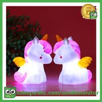 Luminaria Lampu Tidur Bayi Malam Model Pegasus Unicorn Lucu - GP-ZS0