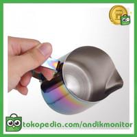 OneTwoCup Gelas Pitcher Kopi Espresso Latte Art Rainbow Stainless
