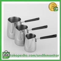 DROHOEY Gelas Kopi Espresso Latte Art Long Handle Stainless Steel