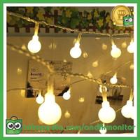 TaffLED Lampu Hias Sperical Light String Portable Warm White 40 LED