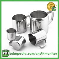 DROHOEY Gelas Pitcher Kopi Espresso Latte Art Stainless Steel 1 Oz -