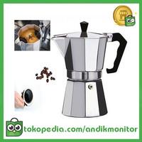 OneTwoCups Espresso Coffee Maker Moka Pot Teko Stovetop Filter 450ml