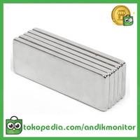 Powerful Cuboid Neodymium Magnet N35 30 x 10mm 10 PCS - MG10 - Silver