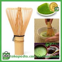 OneTwoCups Kuas Pengaduk Matcha Green Tea Bamboo Whisk Brush -