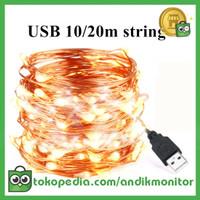Kanai Lampu Hias Dekorasi USB 100 LED 10M - TYNDC-01 - White