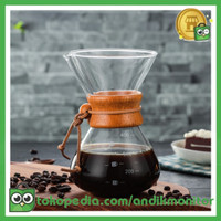 OHFIN Coffee Maker Pot V60 Drip Kettle Teko Kopi Barista 400ml - SE11