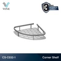 VONE CS-C032-1 Single Corner Shelf Rak Sudut Kamar Mandi Toilet