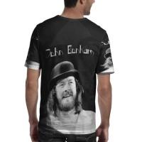 John Bonham Led Zeppelin Drummer Tshirt Fullprint Kaos Bahan Polyester