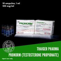 Thaiger Pharma Pronorm (Testosterone Propionate) 10 ampules, 100 mg/ml