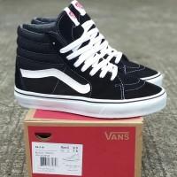 Sepatu Vans Sk8 HI Black White Original Premium Quality Wafle DT