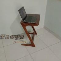 meja laptop/ side table / meja baca kayu jati