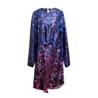Sophistix Avalon Dress in Purple Pink Print