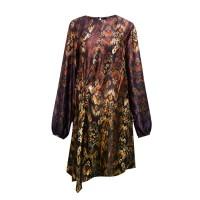 Sophistix Avalon Dress in Brown Cream Print