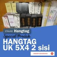 Hang Tag Baju / Label Price Tag Hangtag uk. 5x3 cm cetak 2 sisi