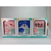 Mainan Edukatif Celengan ATM Brankas Cartoon Karakter Piggy Bank Best