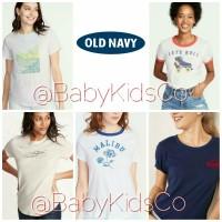 ORIGINAL Kaos Old Navy wanita dewasa oldnavy tee tshirt woman baju gap