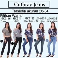 Celana Cutbray Jeans Wanita Besic Standar Modis Trendy Fashion