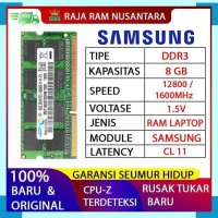 RAM LAPTOP SAMSUNG DDR3 8GB 128001600MHz ORIGINAL RAM SODIMM 1.5v 8GB