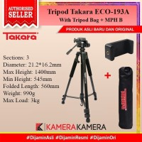 Tripod Takara ECO-193a for Camera DSLR Mirrorless + Bag + Holder U ATT