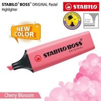 STABILO BOSS PASTEL Cherry Blossom Pink / Highlighter Warna Pink