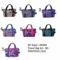 Tas Kipling Travel Tote Art Medium Jalan Santai 13848 Polos Motif