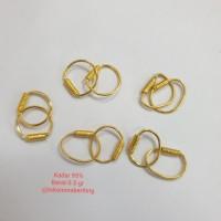 Anting kenip lilit bayi / Anting emas bayi / Anting anak emas